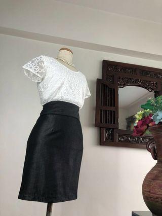 Skirt (SALE) - Grey Pencil Skirt