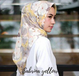 Sabrina Yellow (Pollycotton Hijab)