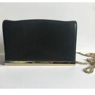 Tas DVF ORI Leather Diane Von Furstenberg Black Sling Shoulder Bag