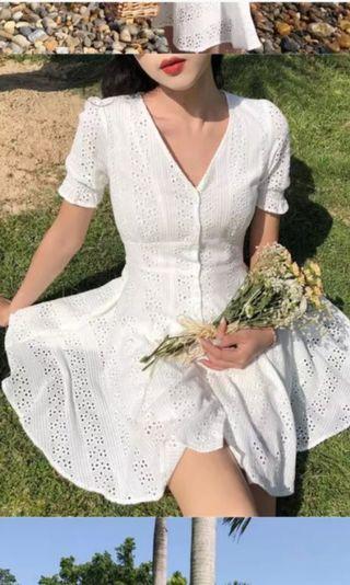 New. Free postage white dress