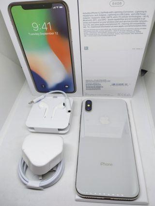 Apple iPhone X 64Gb Silver / Putih Mulus Fullset Surabaya