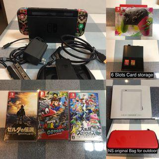 Nintendo Switch console and games