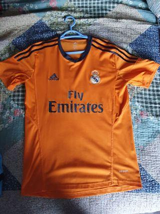 Real Madrid Orange Jersey 13/14 3rd away kit m size