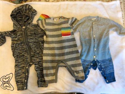 Cigogne BéBé  Bonnie mob baby 針織嬰兒連身衣 rainbow