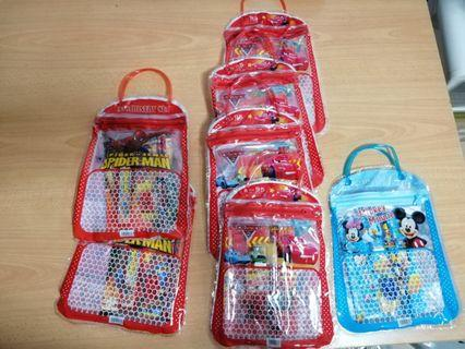 [SALE] Brand New Stationery Set/Goodie bags (Spiderman, Mickey Minnie mouse, cars McQueen) #EndGameYourExcess