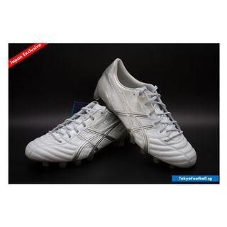 Asics X-Fly 3 K leather white silver soccer football boots shoes