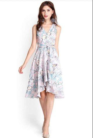 Time of the season dress in the pink floral