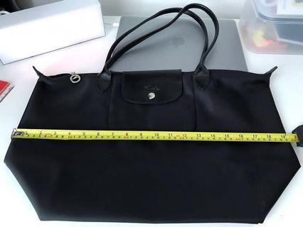 Longchamp Bag In Black (Big with long handle)