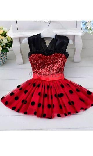 Disney Kids Minnie Mouse Polkadot Dress 👗