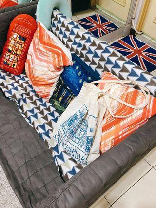 全新 圖紋設計毛毯/沙發布/可收納