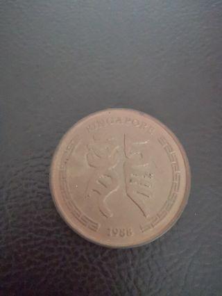 1988 Dragon Coin
