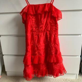 White Fox Boutique red dress XS