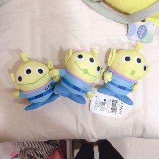 三眼怪三胞胎擺飾娃娃
