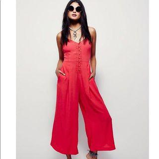 Free People x Eileen Coral Jumpsuit