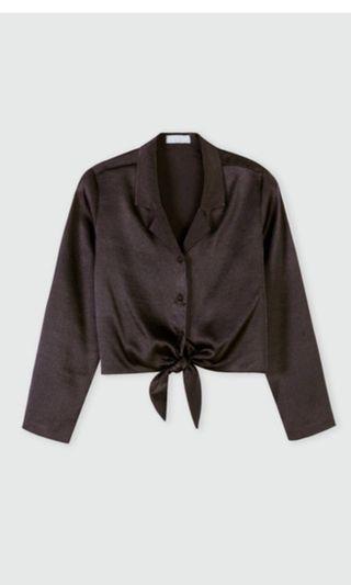 Oak + Fort Front Tie Blouse