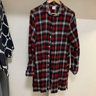 Brown 95%new M oversize check shirt ♻️
