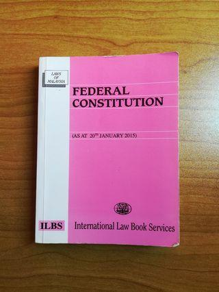 FEDERAL CONSTITUTION, Law Statute