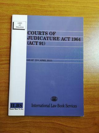 COURTS OF JUDICATURE ACT 1964, Law Statute