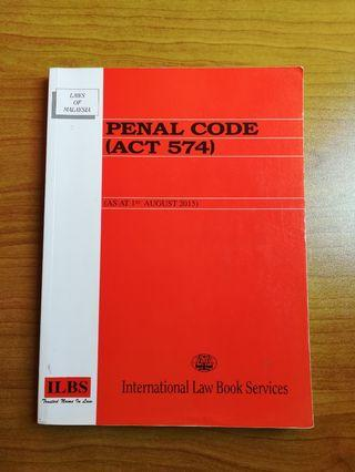 PENAL CODE, Law Statute