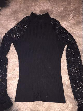 Chicabooti laced turtleneck sweater