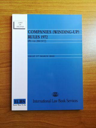 COMPANIES (WINDING-UP) RULES 1972