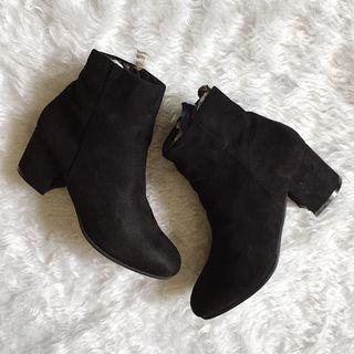 Black Suede Boots with Heels