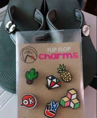 Flip flops plus charms