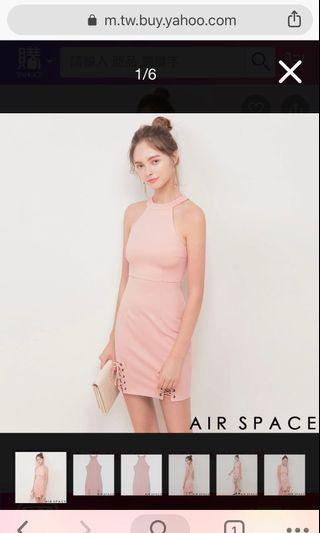 粉色削肩洋裝 #五折清衣櫃