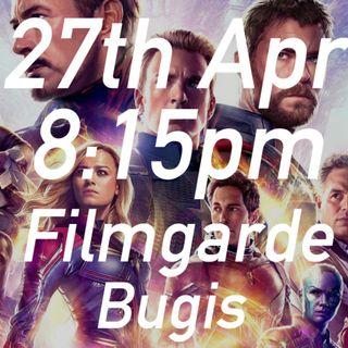 2x 27th Apr 8:15pm Avengers Endgame @ Filmgarde Bugis