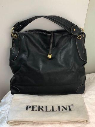 Perllini Black Tote Bag