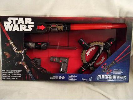 Hasbro - Star Wars BladeBuilders Spin-Action LightSaber Electronic Light Up Sword With Sounds