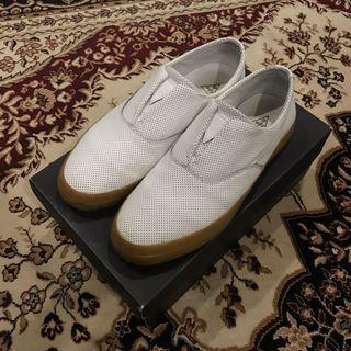 HUF Dylan Slip Ons Perf Leather White Gum