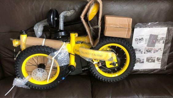 林寶堅尼12吋兒童單車(黃色)