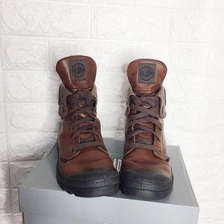 Palladium • Brown Baggy Leather Boots
