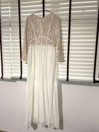 🚚 ZALIA White Dress