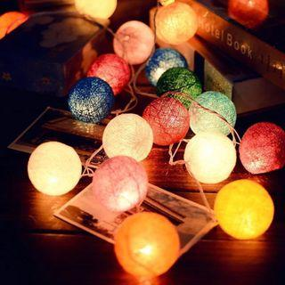 [FOR SALE] 20pcs Cotton / Rattan Ball Fairy Lights