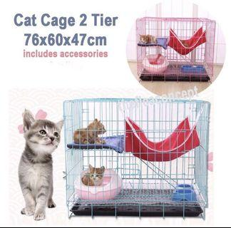 FREE DELIVERY - 2 T cat cage with accessories
