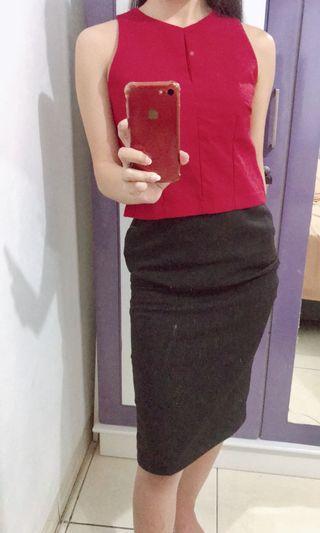 Red croptop
