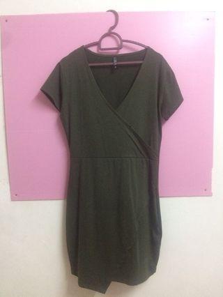 Cotton On Wrap Dress- Green #Rayathon50