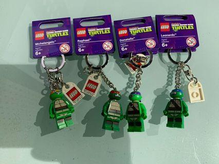 Lego teenage mutant ninja turtles x 4 Keychains