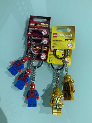 LEGO spider-man, Golden Ninja Ninjago keychains