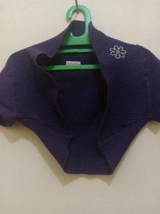 Cardigan baby purple