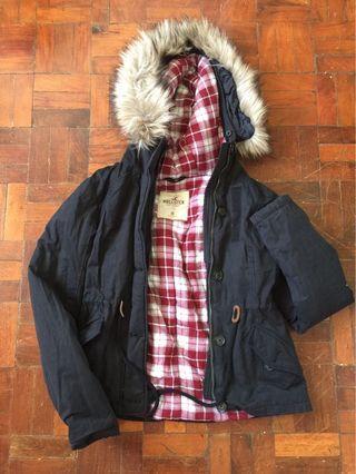 Hollister winter jacket coat hoodie
