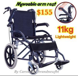 Wheelchair arm rest movable foldable Wheelchair Lightweight