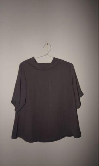 Formal top grey, atasan rapi abu-abu