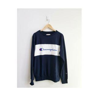 CREWNECK CHAMPION NAVY ORIGINAL