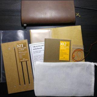 Midori travellers notebook brown