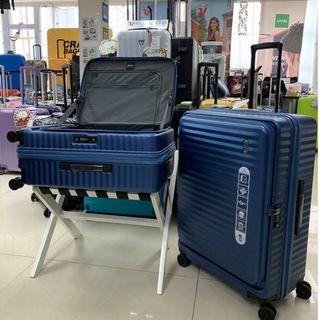 阿豪 Echolac 新款前開蓋 使用 Hinomoto 日本靜音輪 24吋可擴大 行李箱