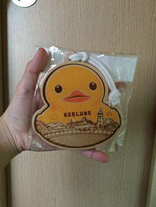 🚚 基隆黃色小鴨木頭明信片