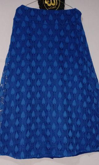 Rok Brukat Biru Preloved